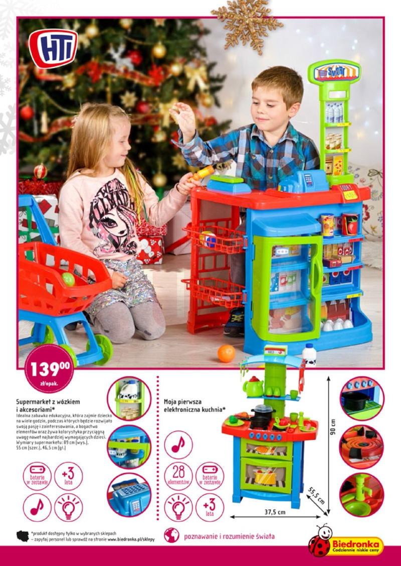 Biedronka Swiateczne Zabawki Supermarket Z Wozkiem I Akcesoriami