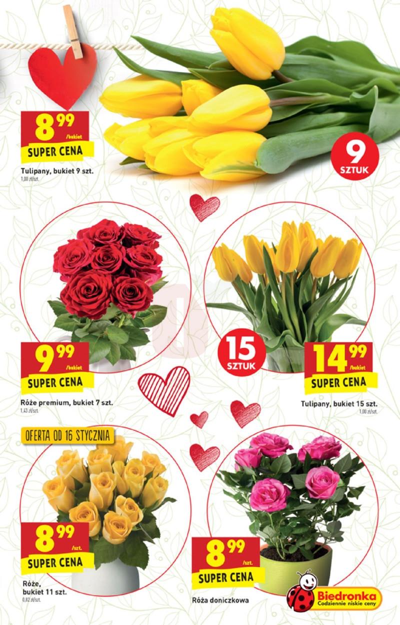 Biedronka Dzien Babci I Dziadka Kwiaty Tulipany Roze
