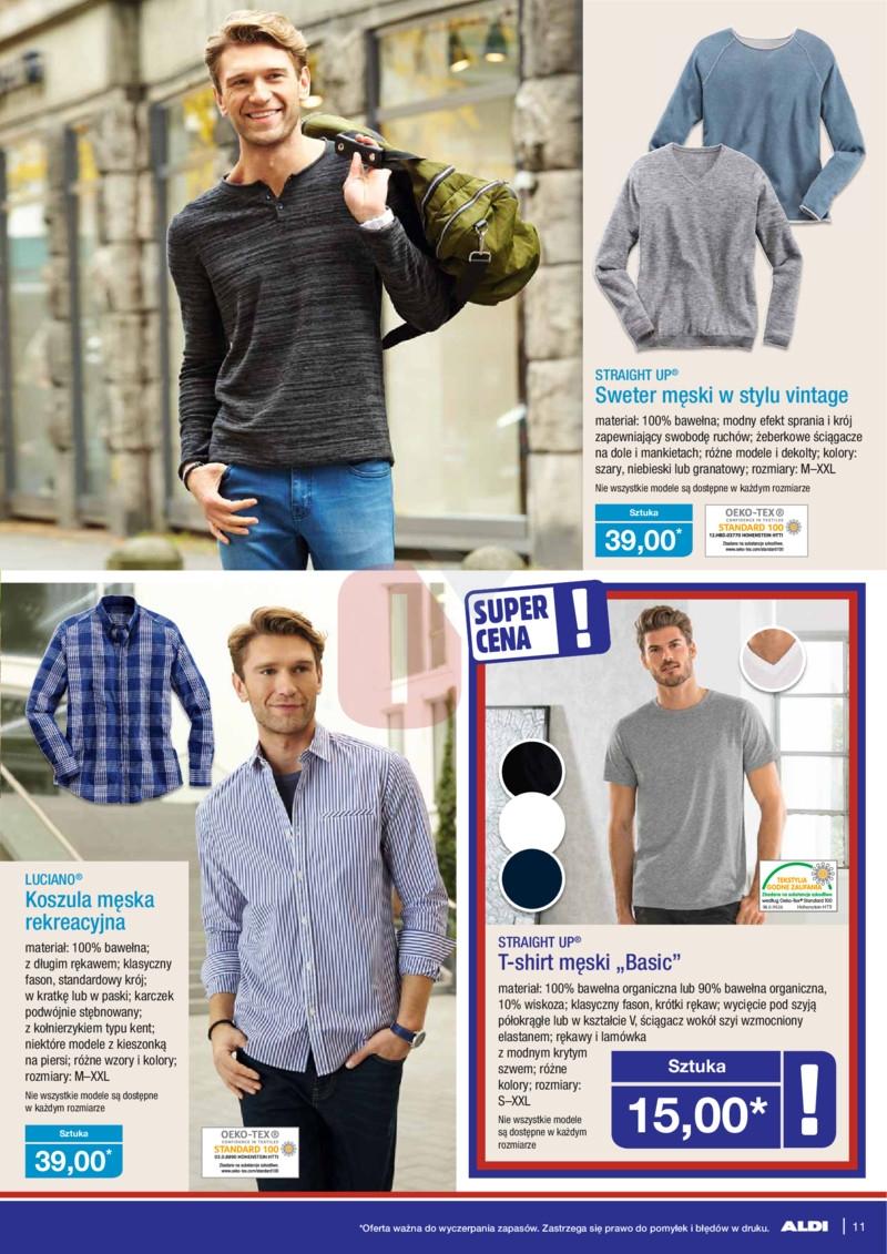 Aldi gazetka 05.04.2017 Kwiecień sweter męski w stylu