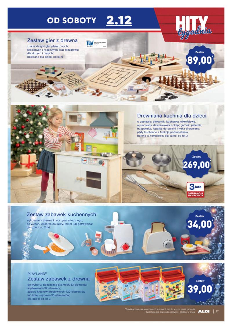 Aldi Gazetka 27 11 2017 Listopad Kuchnia Drewniana Dla Dzieci Zestaw Zabawek Kuchennych Gry Drewniane