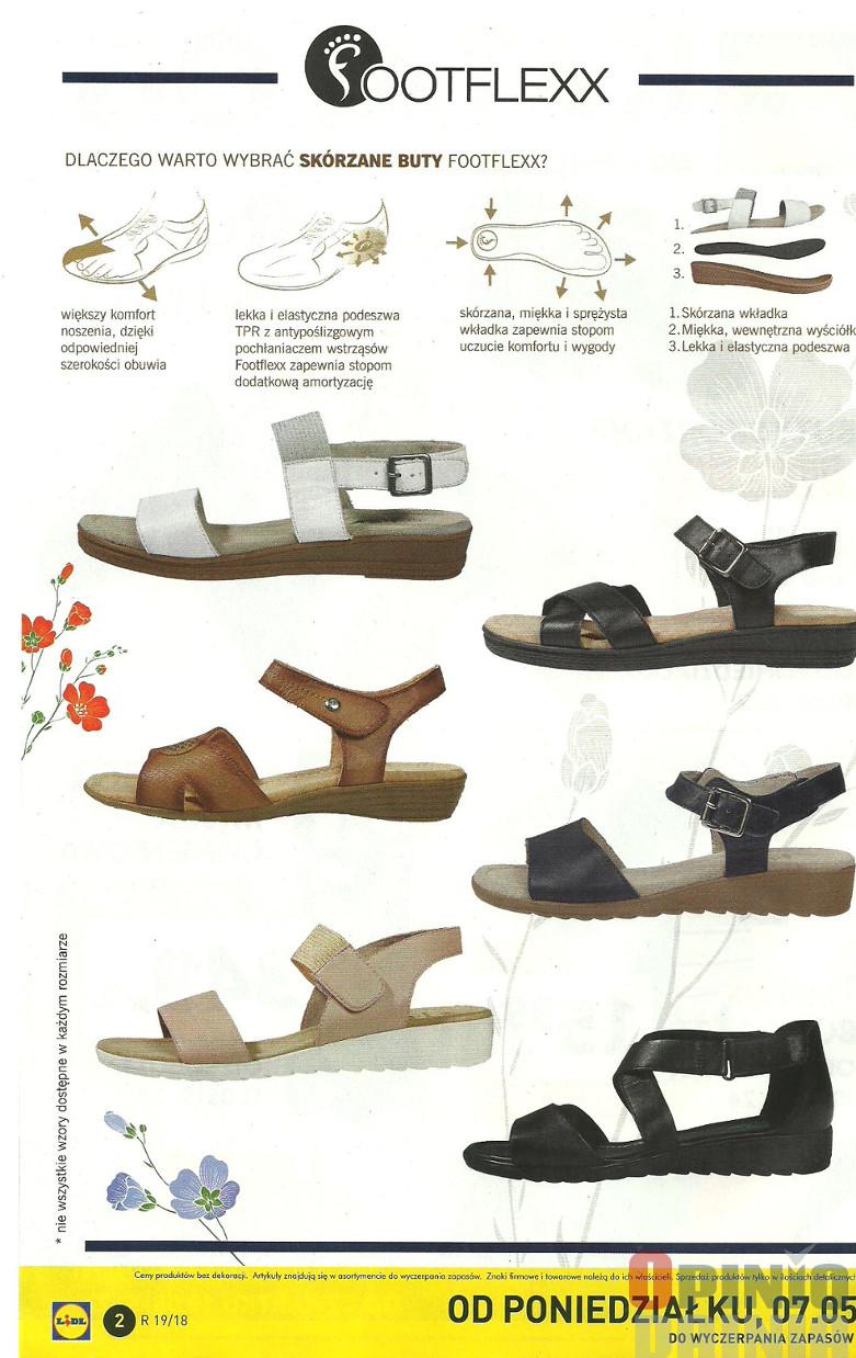 Sandały damskie skóra footflexx LIDL