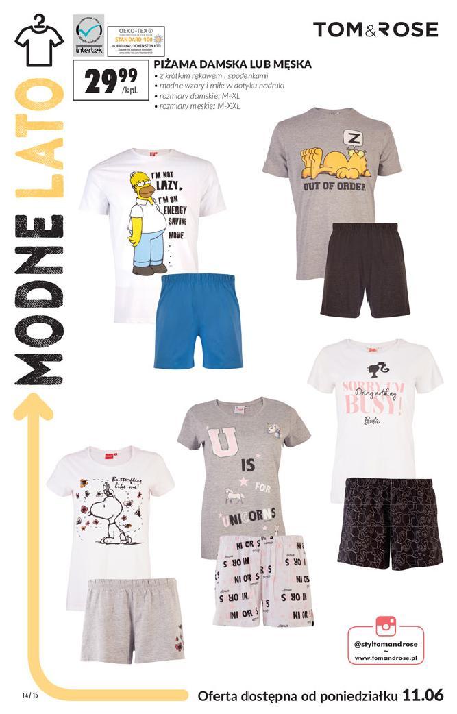 Biedronka 11 czerwca 2018 gazetka koszulka t shirt męski
