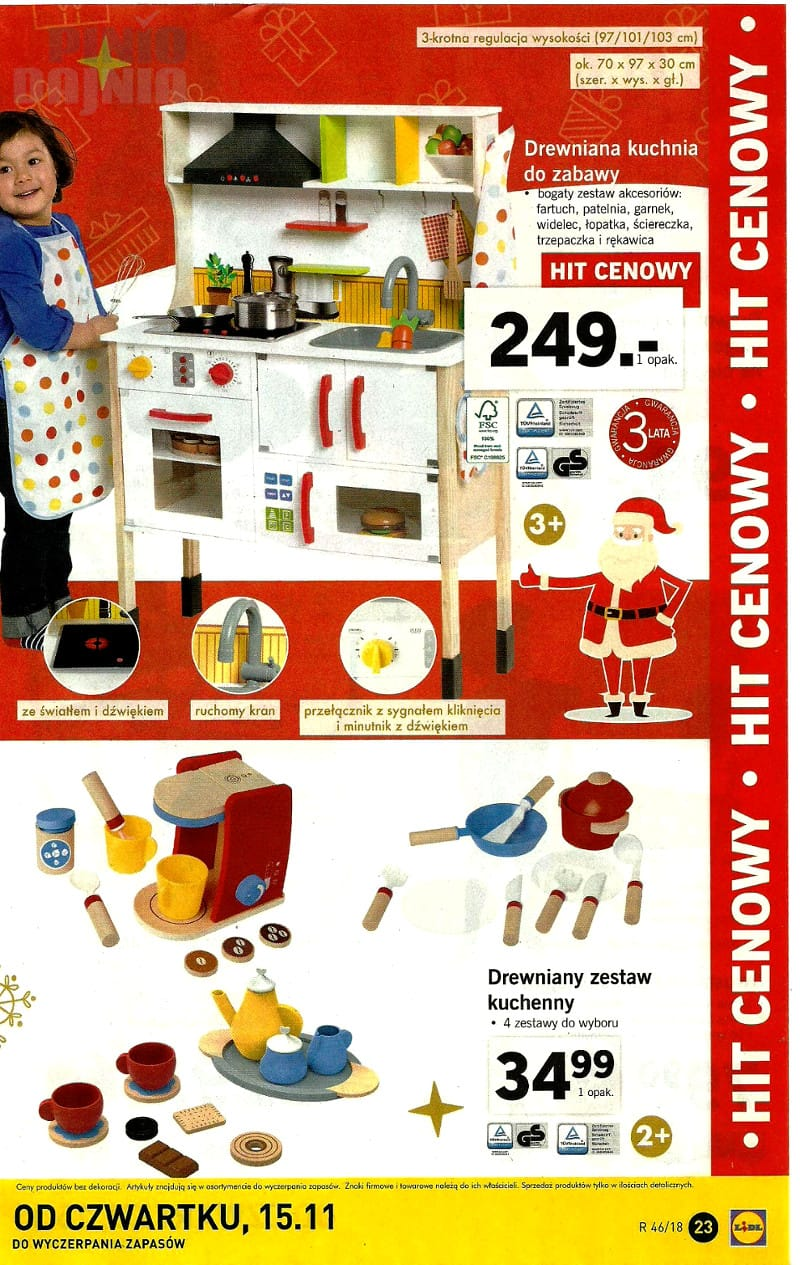Lidl 12112018 Listopad Katalog Kuchnia Drewniana Do Zabawy