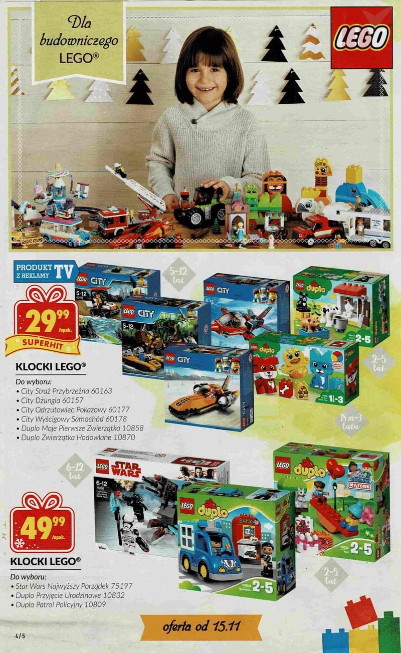 Biedronka Zabawki święta 2018 Klocki Lego Duplo City Star Wars