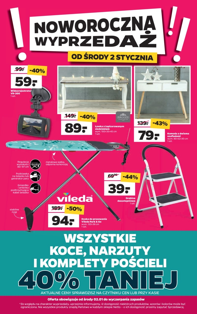 netto 2 stycznia 2019 wyprzeda netto stycze 2019. Black Bedroom Furniture Sets. Home Design Ideas