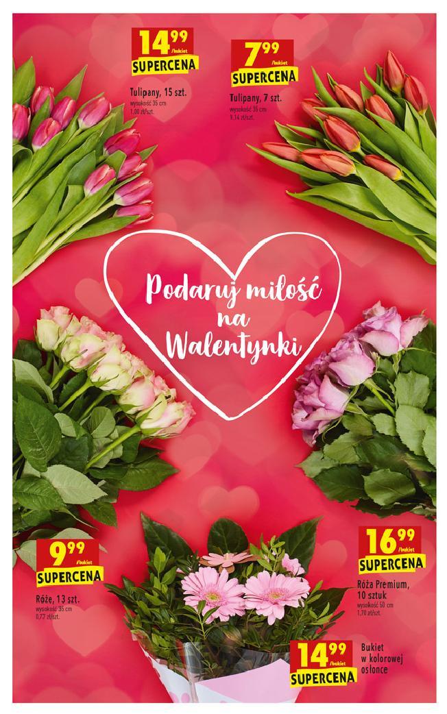 Biedronka Gazetka 7 02 Luty W Tym Tygodniu Kwiaty Roze Tulipany Bukiet