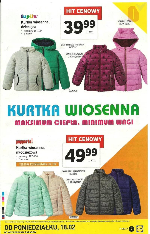 81f51c3184f9a Lidl gazetka 18.02 luty 2019 Katalog - kurtka wiosenna dziecięca