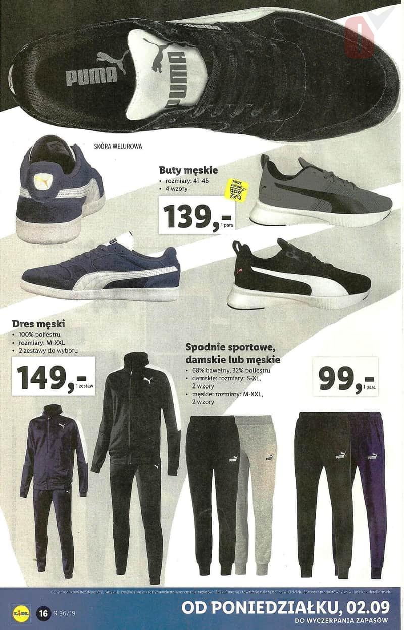 Lidl 2 września 2019 Katalog dres męski, spodnie sportowe