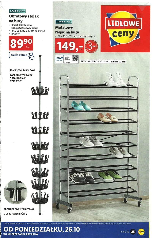 Lidl 26 10 2020 Katalog Regal Na Buty Stojak Obrotowy