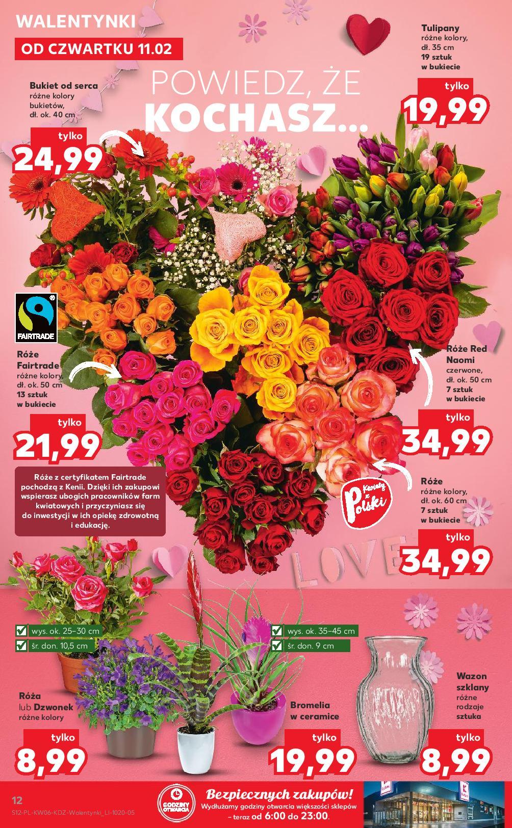 Kaufland 11 02 2021 Gazetka Walentynki Kwiaty