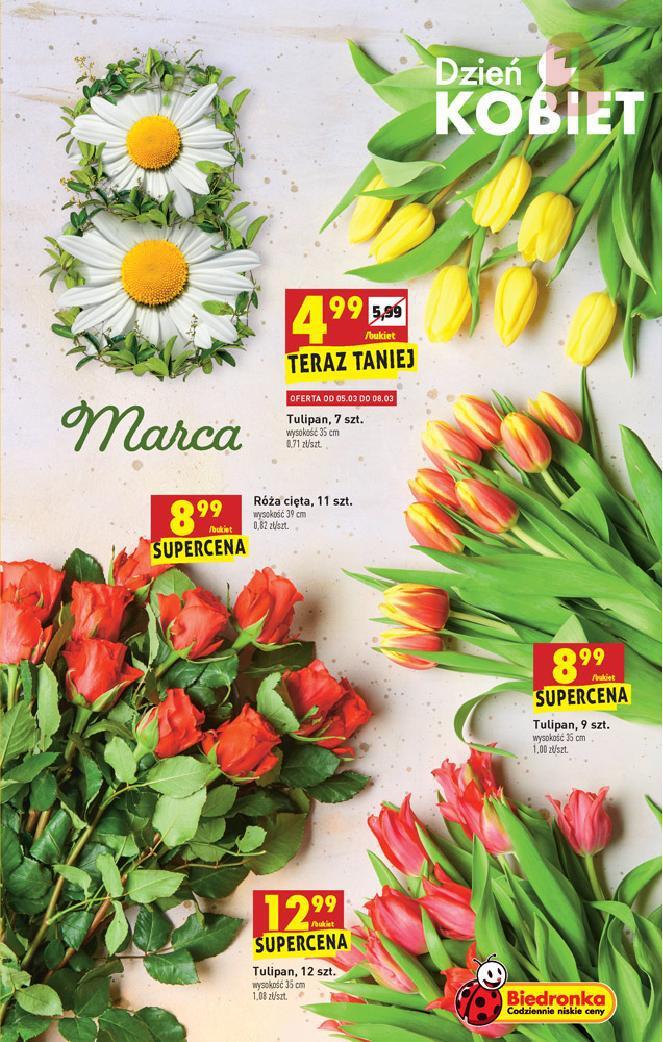 Biedronka 04 03 2021 W Tym Tygodniu Dzien Kobiet Kwiaty